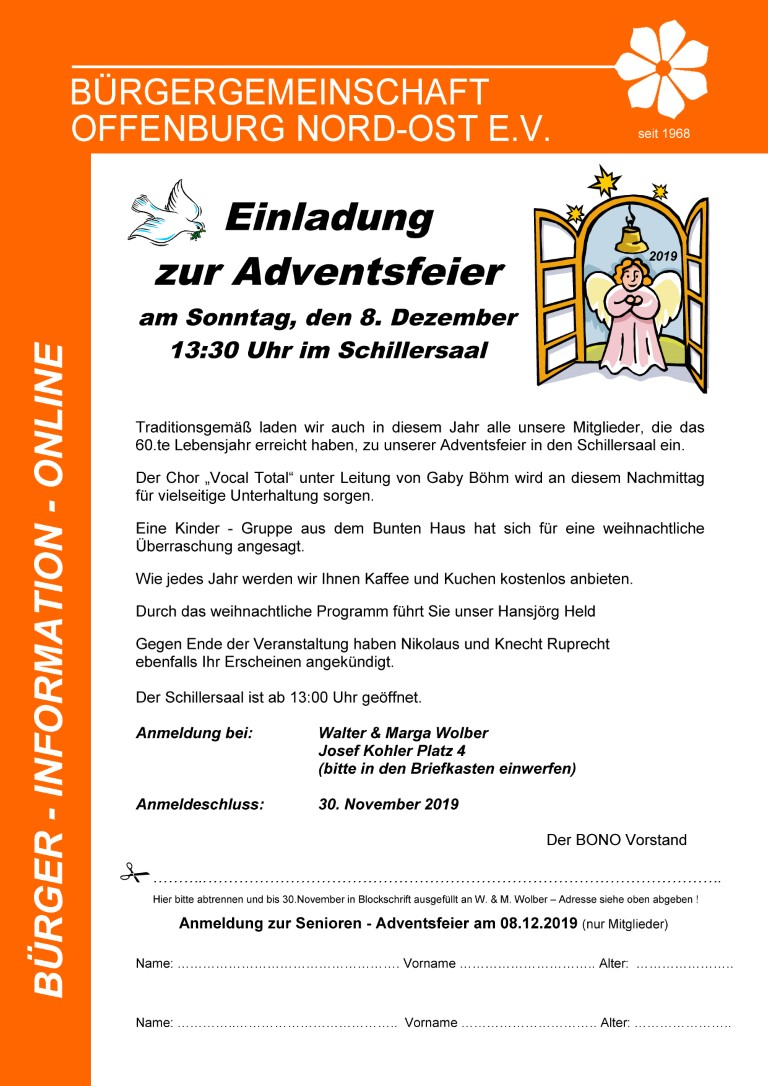 Adventsfeier Senioren Online 2019